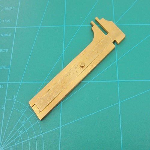 Brass Sliding Measurement Gauge 100mm