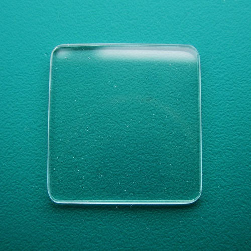 Generic Cartier Mineral Flat TV Watch Glass 14.45mm x 14.45mm - 1.0mm Thickness