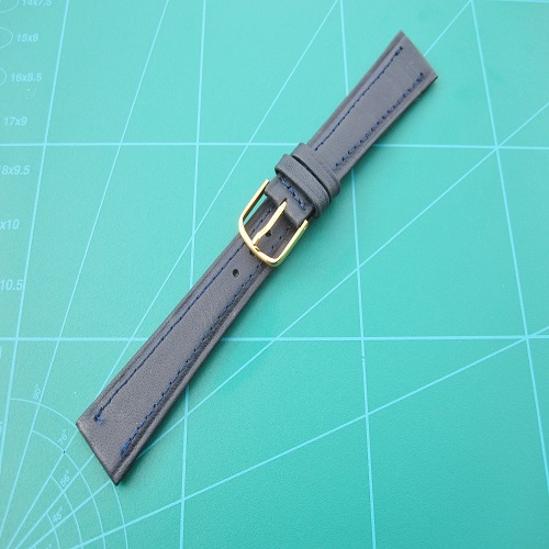 Navy Blue Genuine Leather Watch Straps Bands 12mm up to 20mm