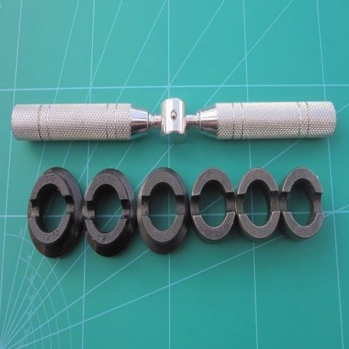 Rolex Case Opener for Oyster Pattern Back Plates 6 Dies Sizes